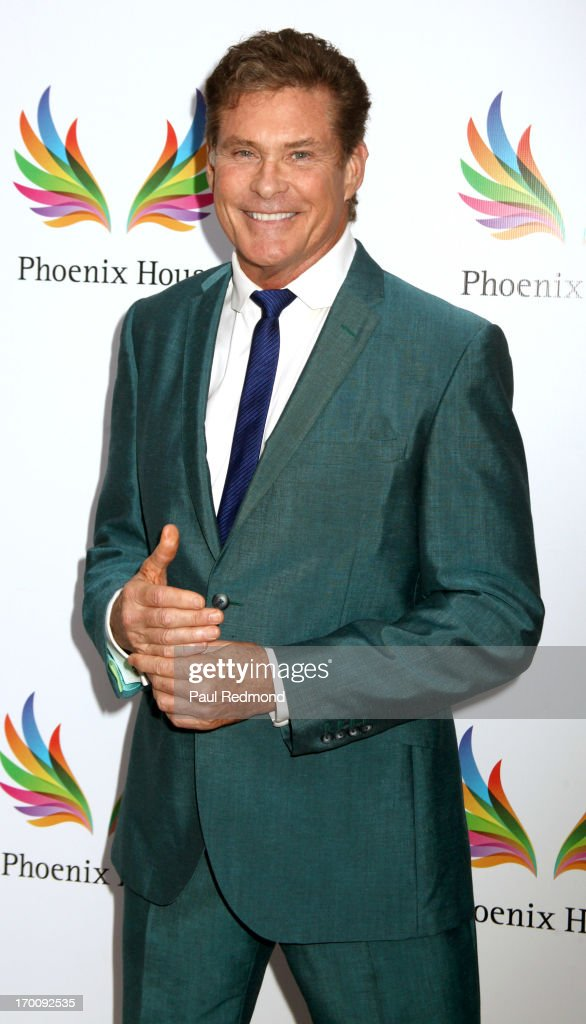 Actor <a gi-track='captionPersonalityLinkClicked' href=/galleries/search?phrase=David+Hasselhoff&family=editorial&specificpeople=209380 ng-click='$event.stopPropagation()'>David Hasselhoff</a> Phoenix House 10th Annual Triumph For Teens Awards Gala at Beverly Hills Hotel on June 6, 2013 in Beverly Hills, California.