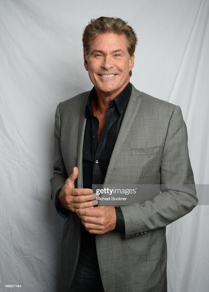 Actor <a gi-track='captionPersonalityLinkClicked' href=/galleries/search?phrase=David+Hasselhoff&family=editorial&specificpeople=209380 ng-click='$event.stopPropagation()'>David Hasselhoff</a> poses for a portrait at the Variety Studio at the 66th Annual Cannes Film Festival at Chivas House on May 17, 2013 in Cannes, France.