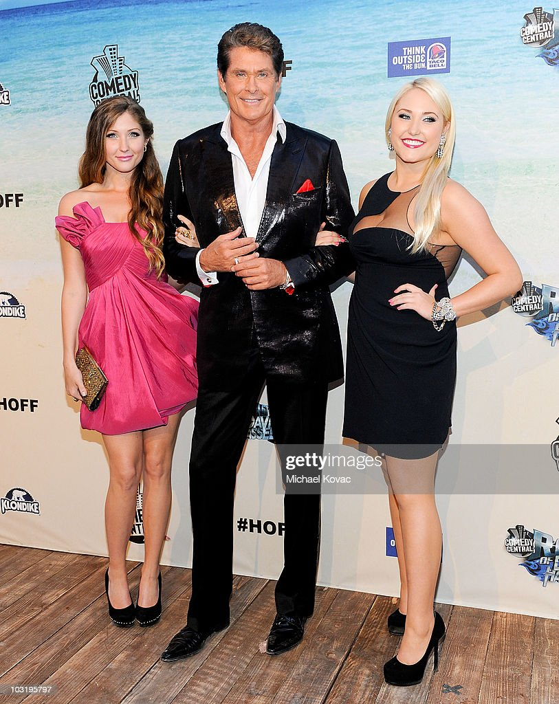 Actor David Hasselhoff (C) poses with his daughters <a gi-track='captionPersonalityLinkClicked' href=/galleries/search?phrase=Taylor+Ann+Hasselhoff&family=editorial&specificpeople=4357876 ng-click='$event.stopPropagation()'>Taylor Ann Hasselhoff</a> (L) and Hayley Amber Hasselhoff as they arrive at the Comedy Central Roast Of David Hasselhoff held at Sony Pictures Studios on August 1, 2010 in Culver City, California. The 'Comedy Central Roast of David Hasselhoff' will air on Sunday, August 15, 2010 at 10:00 p.m. ET/PT.