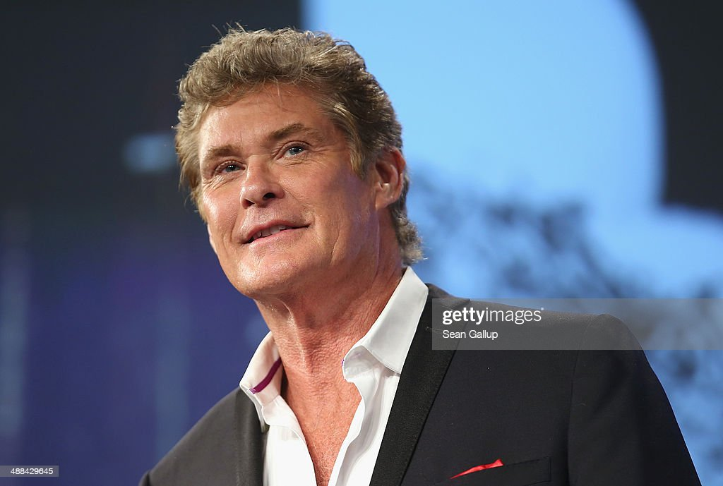 U.S. actor <a gi-track='captionPersonalityLinkClicked' href=/galleries/search?phrase=David+Hasselhoff&family=editorial&specificpeople=209380 ng-click='$event.stopPropagation()'>David Hasselhoff</a> speaks at the 2014 re:publica conferences on digital society on May 6, 2014 in Berlin, Germany. The conference brings together bloggers, developers, human rights activists and others to discuss the course of the digital future. Re:publica will run until May 8.