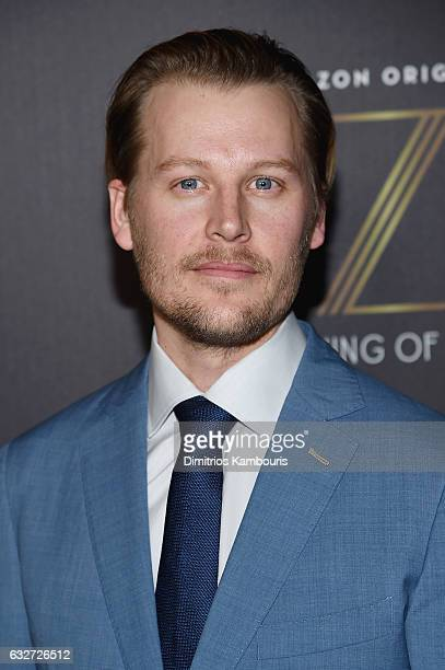 Actor David Hoflin attends the premiere event for Amazon Prime Video's Z THE BEGINNING OF EVERYTHING on January 25 2017 in New York City