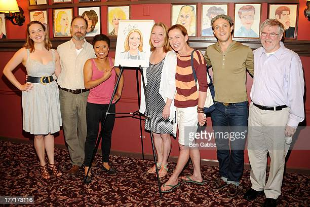 Actor David Hyde Pierce actress Kristine Nielsen playwright Christopher Durang and cast members from 'Vanya and Sonia and Masha and Spike' attend...