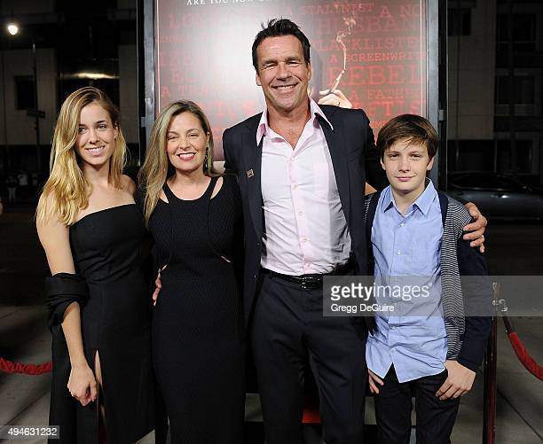 Actor David James Elliott wife Nanci Chambers daughter Stephanie Smith and son Wyatt Smith arrive at the premiere of Bleecker Street Media's 'Trumbo'...