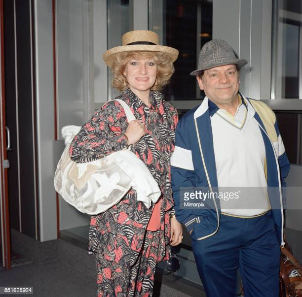 Actor David Jason and girlfriend Myfanwy Talog leaving Heathrow Airport for a holiday in the Cayman Islands 4th April 1989