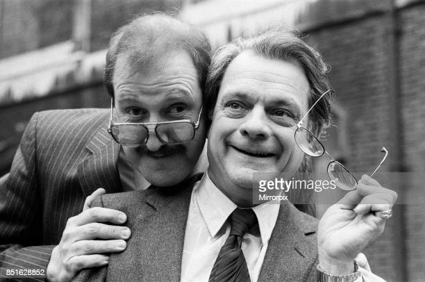 Actor David Jason right and Gordon Kaye are nominated for the 1985 Film Awards presented by BAFTA 16th February 1986