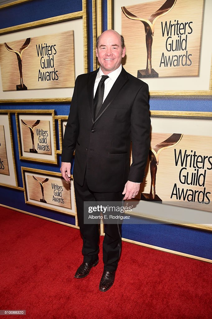 Actor <a gi-track='captionPersonalityLinkClicked' href=/galleries/search?phrase=David+Koechner&family=editorial&specificpeople=804105 ng-click='$event.stopPropagation()'>David Koechner</a> attends the 2016 Writers Guild Awards at the Hyatt Regency Century Plaza on February 13, 2016 in Los Angeles, California.