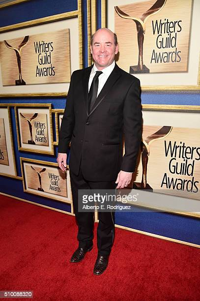 Actor David Koechner attends the 2016 Writers Guild Awards at the Hyatt Regency Century Plaza on February 13 2016 in Los Angeles California