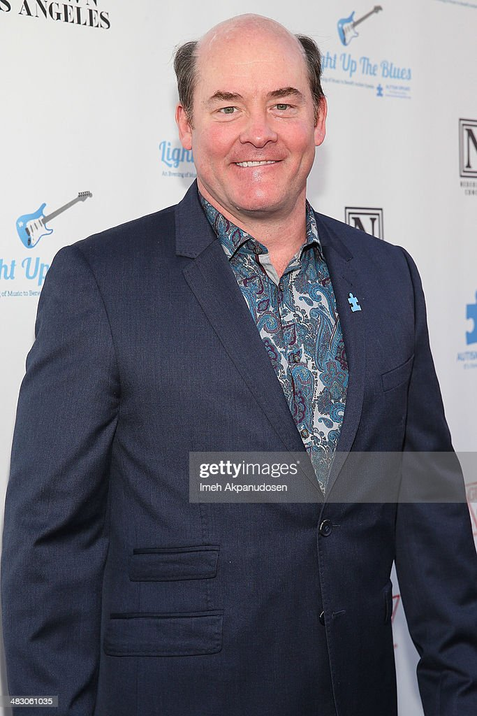 Actor <a gi-track='captionPersonalityLinkClicked' href=/galleries/search?phrase=David+Koechner&family=editorial&specificpeople=804105 ng-click='$event.stopPropagation()'>David Koechner</a> attends the 2nd Light Up The Blues Concert - An Evening Of Music To Benefit Autism Speaks at The Theatre At Ace Hotel on April 5, 2014 in Los Angeles, California.