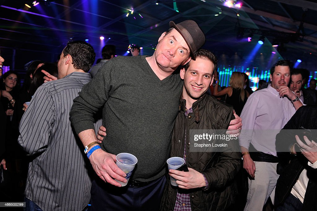Actor <a gi-track='captionPersonalityLinkClicked' href=/galleries/search?phrase=David+Koechner&family=editorial&specificpeople=804105 ng-click='$event.stopPropagation()'>David Koechner</a> (L) attends the Bud Light Hotel on February 1, 2014 in New York City.