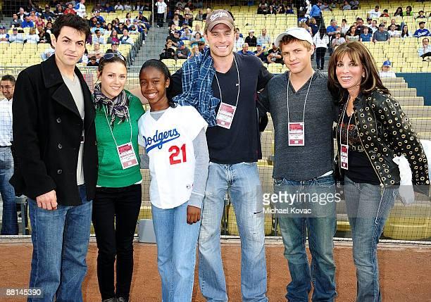 Actor David Lago Actress Elizabeth Hendrickson Actress Jamia Simone Nash Actor Billy Miller Actor Kevin Schmidt and Actress Kate Linder attend at the...