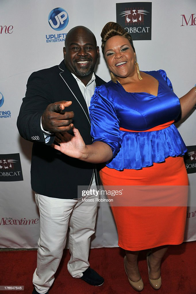 Actor David Mann and actress Tamela Mann attend the premiere of 'In the Meantime' at the Woodruff Arts Center on August 14, 2013 in Atlanta, Georgia.