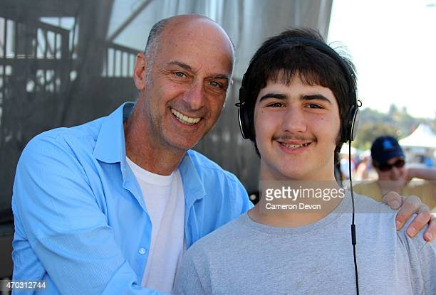 Actor David Marciano and his son attend the 13th Annual Los Angeles Walk Now for Autism Speaks at Rose Bowl on April 18 2015 in Pasadena California