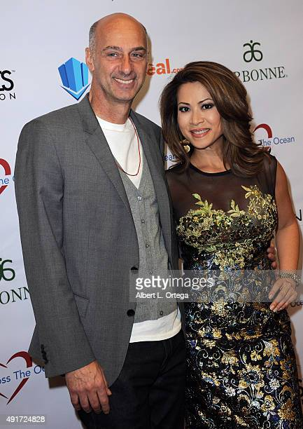 Actor David Marciano and host/newscaster Leyna Nguyen at the Celebrity Poker Tournament To Benefit Love Across The Ocean held at Commerce Casino on...