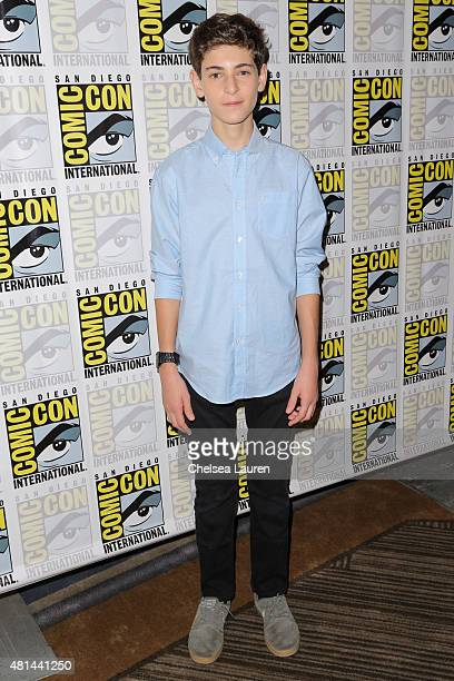Actor David Mazouz attends the 'Gotham' press room on July 11 2015 in San Diego California
