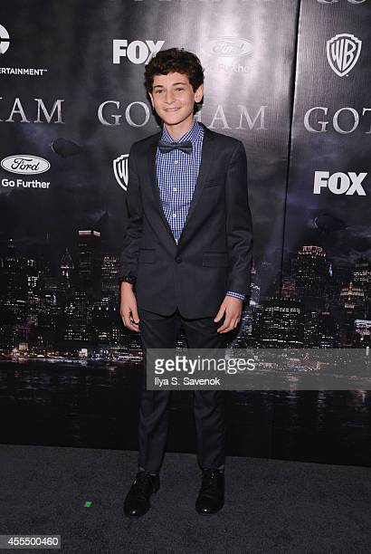 Actor David Mazouz attends the 'Gotham' series premiere at The New York Public Library on September 15 2014 in New York City