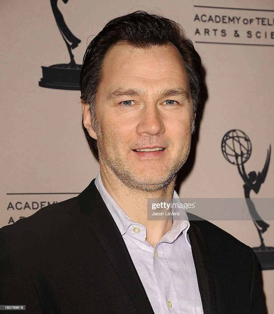 Actor <a gi-track='captionPersonalityLinkClicked' href=/galleries/search?phrase=David+Morrissey&family=editorial&specificpeople=220896 ng-click='$event.stopPropagation()'>David Morrissey</a> attends an evening with 'The Walking Dead' at Leonard H. Goldenson Theatre on February 5, 2013 in North Hollywood, California.