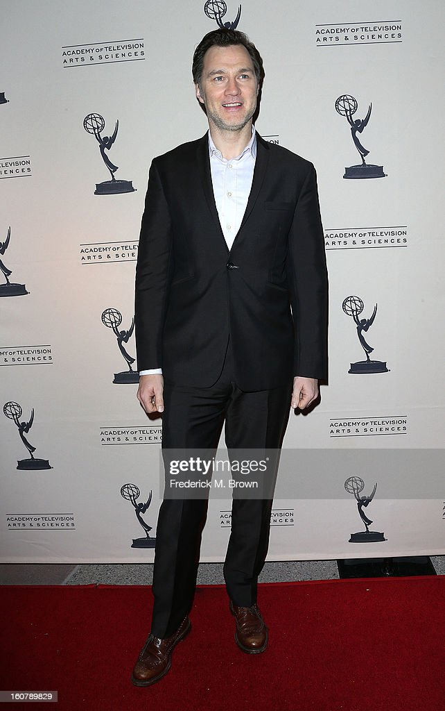 Actor David Morrissey attends The Academy Of Television Arts & Sciences Presents An Evening With 'The Walking Dead' at the Leonard H. Goldenson Theatre on February 5, 2013 in North Hollywood, California.