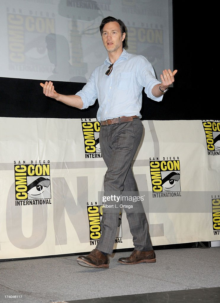 Actor David Morrissey speaks onstage at AMC's 'The Walking Dead' panel during Comic-Con International 2013 at San Diego Convention Center on July 19, 2013 in San Diego, California.