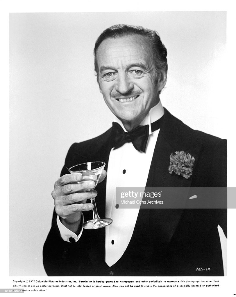 Actor <a gi-track='captionPersonalityLinkClicked' href=/galleries/search?phrase=David+Niven&family=editorial&specificpeople=123835 ng-click='$event.stopPropagation()'>David Niven</a> on the set of Columbia Pictures movie 'Murder by Death' in 1976.