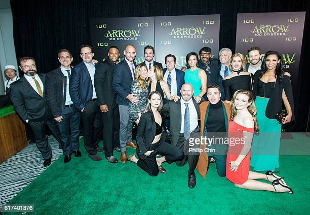 Actor David Nykl executive producers Greg Berlanti and Andrew Kreisberg actors David Ramsey Paul Blackthorne Katie Cassidy Willa Holland Stephen...