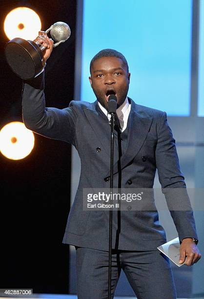 Actor David Oyelowo accepts the award for Outstanding Actor in a Motion Picture for 'Selma' onstage at the 46th Annual NAACP Image Awards on February...