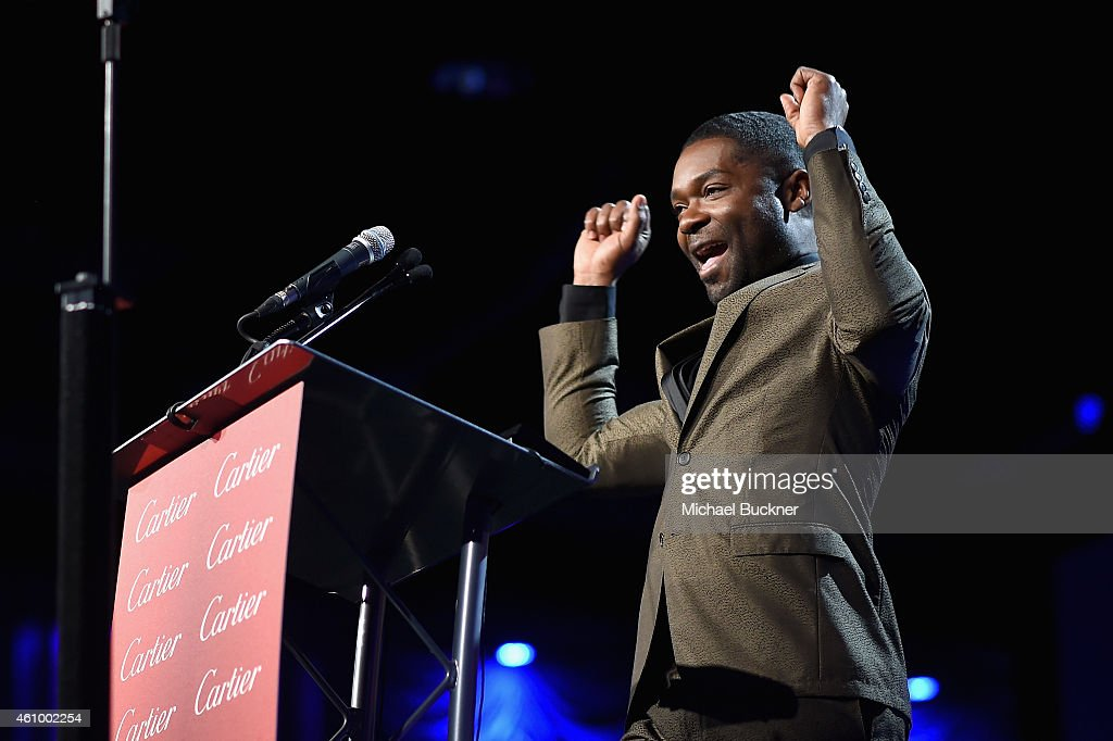 Actor David Oyelowo accepts the Breakthrough Performance Award onstage during the 26th Annual Palm Springs International Film Festival Awards Gala at...
