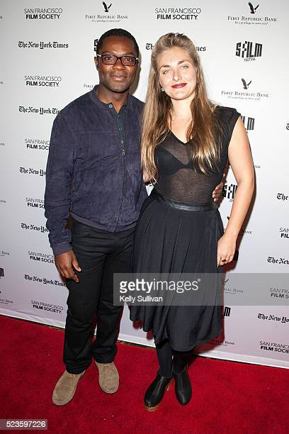 Actor David Oyelowo and director Maris Curran arrive on the red carpet for the San Francisco International Film Festival premiere of 'Five Nights in...