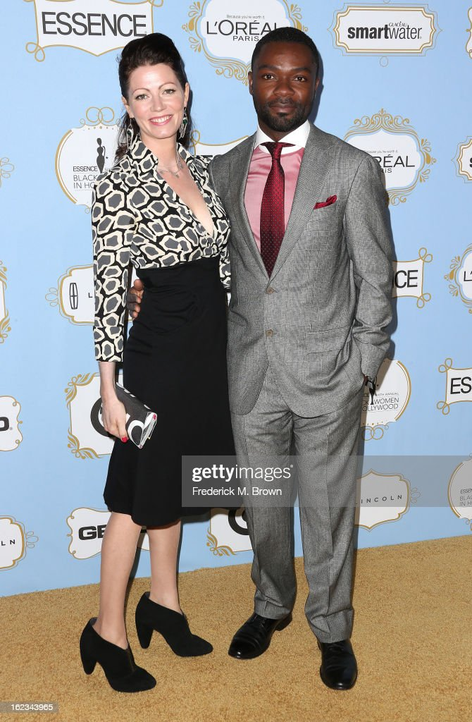 Actor <a gi-track='captionPersonalityLinkClicked' href=/galleries/search?phrase=David+Oyelowo&family=editorial&specificpeople=633075 ng-click='$event.stopPropagation()'>David Oyelowo</a> (R) and his guet attend the Sixth Annual ESSENCE Black Women In Hollywood Awards Luncheon at the Beverly Hills Hotel on February 21, 2013 in Beverly Hills, California.