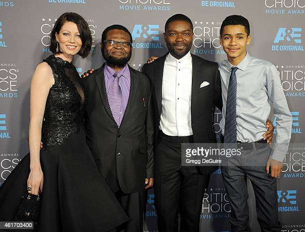 Actor David Oyelowo and wife Jessica Oyelowo arrive at the 20th Annual Critics' Choice Movie Awards at Hollywood Palladium on January 15 2015 in Los...