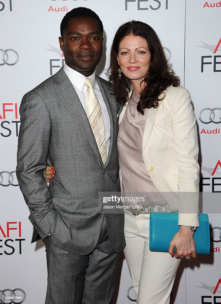 Actor <a gi-track='captionPersonalityLinkClicked' href=/galleries/search?phrase=David+Oyelowo&family=editorial&specificpeople=633075 ng-click='$event.stopPropagation()'>David Oyelowo</a> and wife Jessica Oyelowo arrive at the 'Lincoln' premiere during AFI Fest 2012 presented by Audi at Grauman's Chinese Theatre on November 8, 2012 in Hollywood, California.