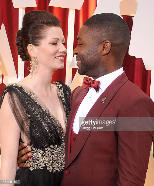 Actor David Oyelowo and wife Jessica Oyelowo arrives at the 87th Annual Academy Awards at Hollywood Highland Center on February 22 2015 in Hollywood...