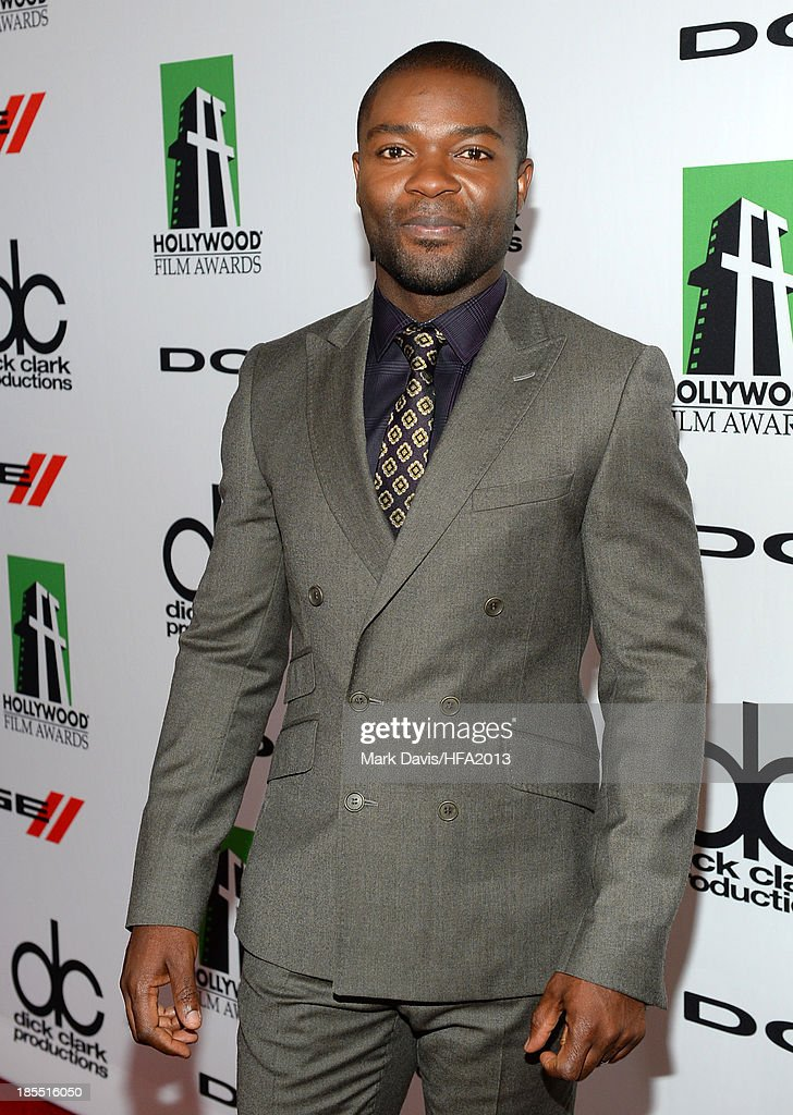 Actor <a gi-track='captionPersonalityLinkClicked' href=/galleries/search?phrase=David+Oyelowo&family=editorial&specificpeople=633075 ng-click='$event.stopPropagation()'>David Oyelowo</a> arrives at the 17th annual Hollywood Film Awards at The Beverly Hilton Hotel on October 21, 2013 in Beverly Hills, California.