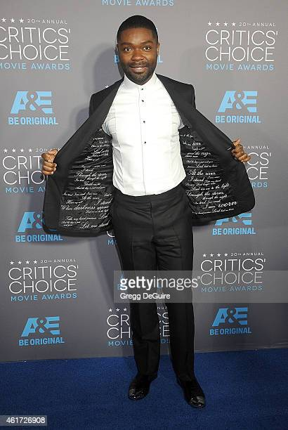Actor David Oyelowo arrives at the 20th Annual Critics' Choice Movie Awards at Hollywood Palladium on January 15 2015 in Los Angeles California