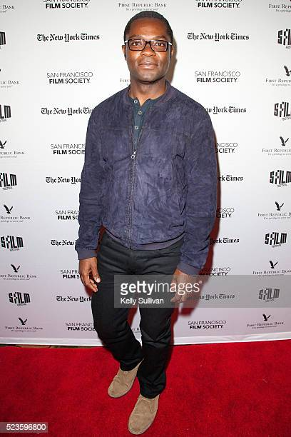 Actor David Oyelowo arrives on the red carpet for the San Francisco International Film Festival premiere of 'Five Nights in Maine' at the Alamo...
