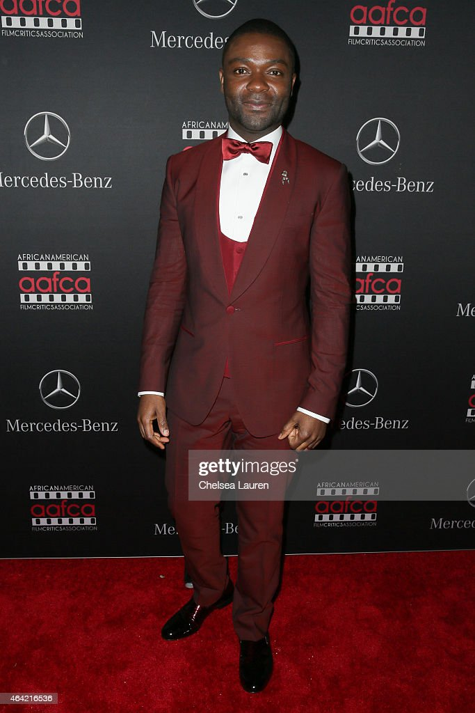 Actor <a gi-track='captionPersonalityLinkClicked' href=/galleries/search?phrase=David+Oyelowo&family=editorial&specificpeople=633075 ng-click='$event.stopPropagation()'>David Oyelowo</a> attends Mercedes-Benz USA and African American Film Critics Association Academy Awards viewing party on February 22, 2015 in Los Angeles, California.