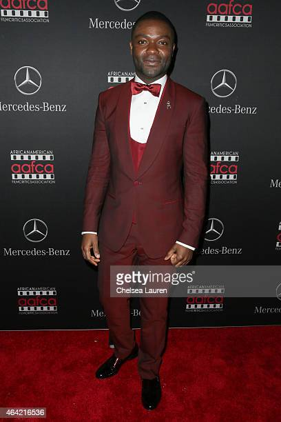Actor David Oyelowo attends MercedesBenz USA and African American Film Critics Association Academy Awards viewing party on February 22 2015 in Los...