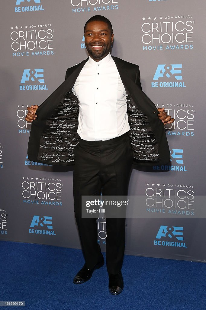 Actor <a gi-track='captionPersonalityLinkClicked' href=/galleries/search?phrase=David+Oyelowo&family=editorial&specificpeople=633075 ng-click='$event.stopPropagation()'>David Oyelowo</a> attends The 20th Annual Critics' Choice Movie Awards at Hollywood Palladium on January 15, 2015 in Los Angeles, California.