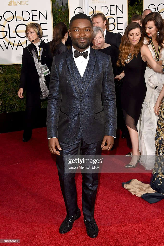 Actor <a gi-track='captionPersonalityLinkClicked' href=/galleries/search?phrase=David+Oyelowo&family=editorial&specificpeople=633075 ng-click='$event.stopPropagation()'>David Oyelowo</a> attends the 72nd Annual Golden Globe Awards at The Beverly Hilton Hotel on January 11, 2015 in Beverly Hills, California.