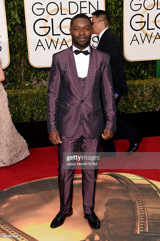 Actor <a gi-track='captionPersonalityLinkClicked' href=/galleries/search?phrase=David+Oyelowo&family=editorial&specificpeople=633075 ng-click='$event.stopPropagation()'>David Oyelowo</a> attends the 73rd Annual Golden Globe Awards held at the Beverly Hilton Hotel on January 10, 2016 in Beverly Hills, California.