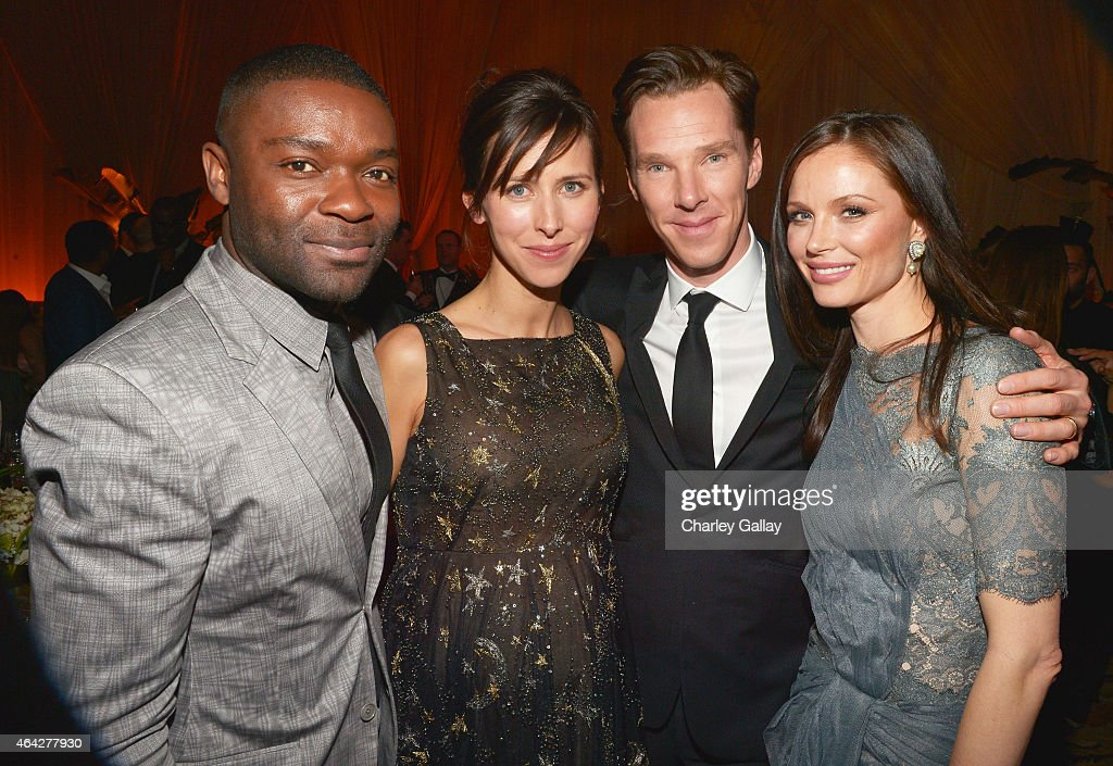 Actor David Oyelowo, director Sophie Hunter, actor Benedict Cumberbatch and fashion designer Georgina Chapman attend The Weinstein Company's Academy Awards Nominees Dinner in partnership with Chopard, DeLeon Tequila, FIJI Water and MAC Cosmetics on February 21, 2015 in Los Angeles, California.