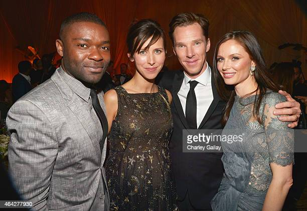 Actor David Oyelowo director Sophie Hunter actor Benedict Cumberbatch and fashion designer Georgina Chapman attend The Weinstein Company's Academy...