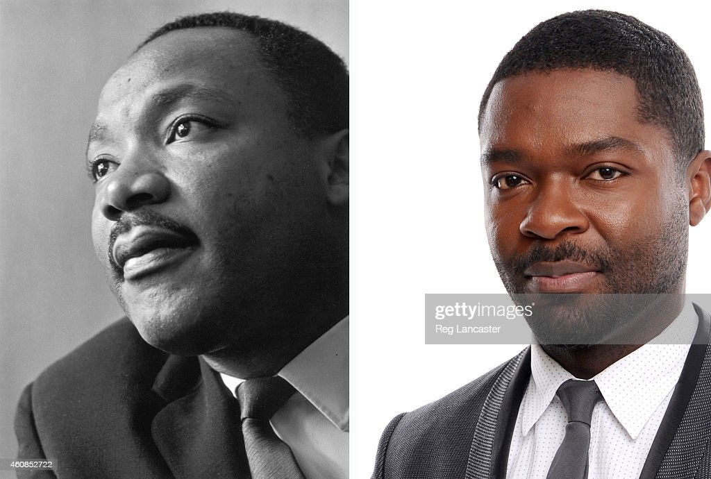 In this composite image a comparison has been made between Martin Luther King Jr. (L) and actor David Oyelowo. Actor David Oyelowo will reportedly play civil rights activist Martin Luther King Jr. in a film biopic 'Selma' directed by Ava DuVernay. SANTA MONICA, CA - JANUARY 16: Actor David Oyelowo poses for a portrait during the 19th Annual Critics' Choice Movie Awards at Barker Hangar on January 16, 2014 in Santa Monica, California.