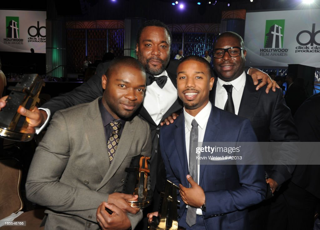 Actor David Oyelowo recipient of the Hollywood Spotlight Award for 'The Butler' Lee Daniels recipient of the Hollywood Directors Award for 'The...