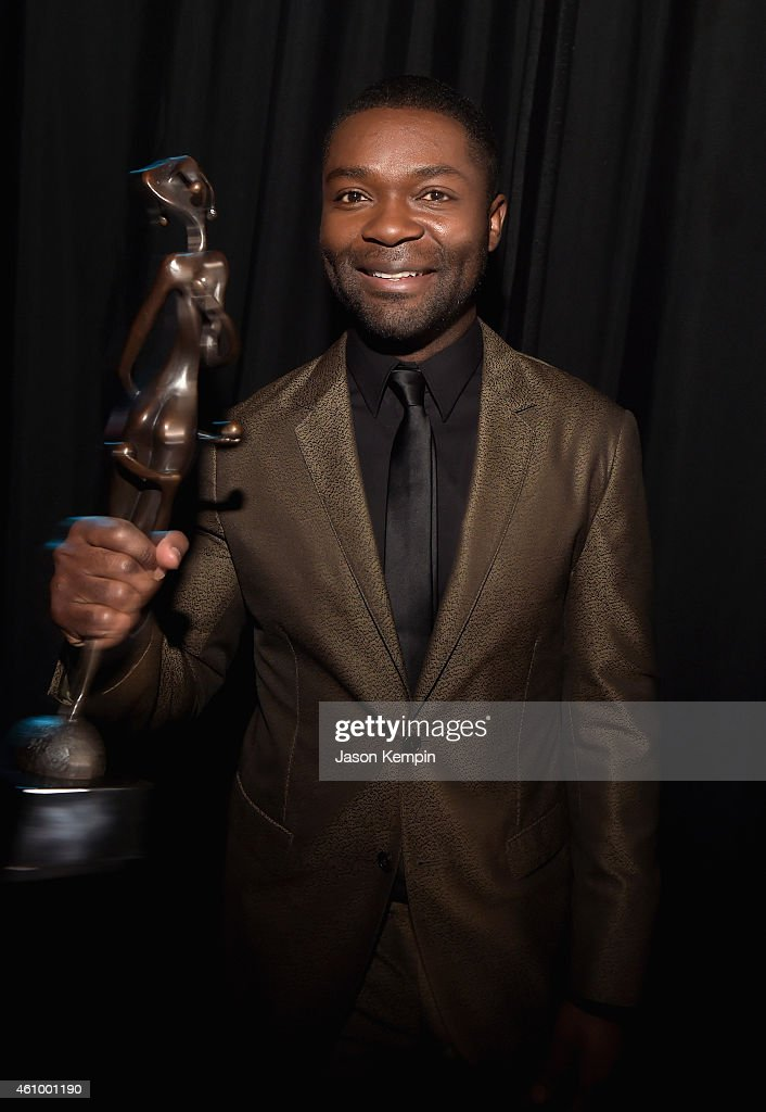 Actor David Oyelowo winner of the Breakthrough Performance Award attends the 26th Annual Palm Springs International Film Festival Awards Gala at Palm...