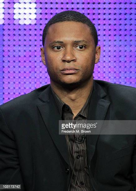 Actor David Ramsey speaks onstage during the 'Outlaw' session panel for the NBC Universal portion of the summer Television Critics Association press...