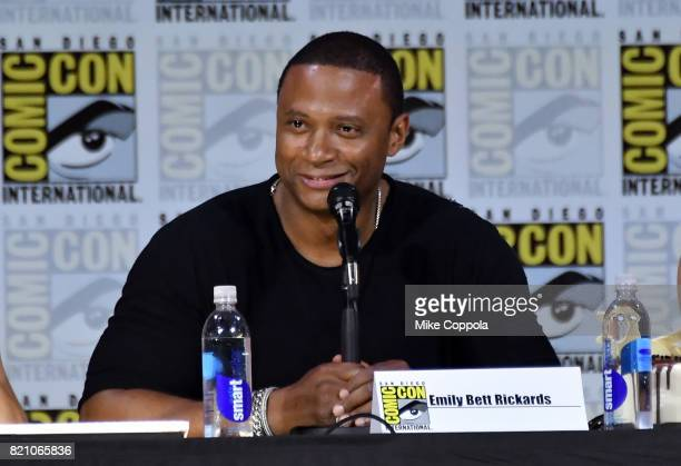 Actor David Ramseyattends the 'Arrow' Video Presentation And QA during ComicCon International 2017 at San Diego Convention Center on July 22 2017 in...