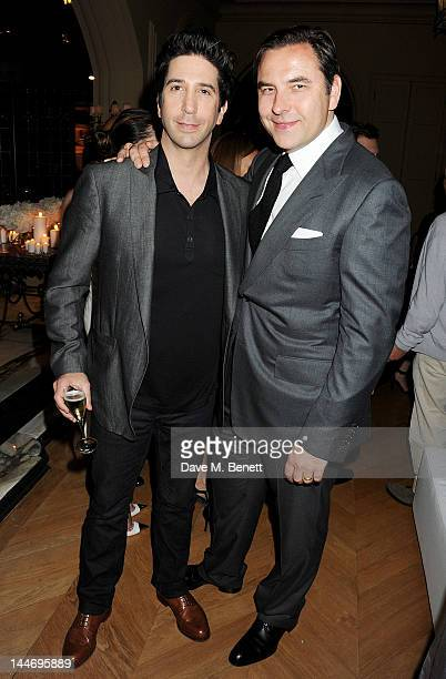 Actor David Schwimmer and David Walliams attend as The IFP Calvin Klein Collection euphoria Calvin Klein celebrate Women In Film during the 65th...