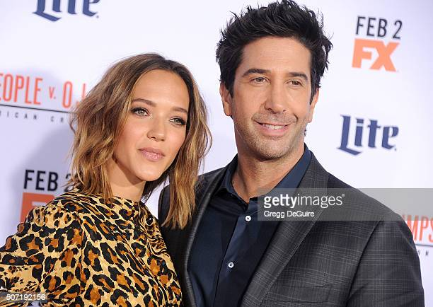 Actor David Schwimmer and wife Zoe Buckman arrive at the premiere of 'FX's 'American Crime Story The People V OJ Simpson' at Westwood Village Theatre...