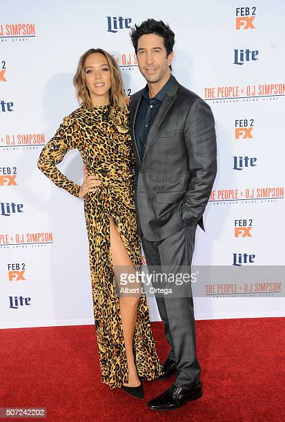 Actor David Schwimmer and wife Zoe Buckman arrive for Premiere Of 'FX's 'American Crime Story The People V OJ Simpson' held at Westwood Village...