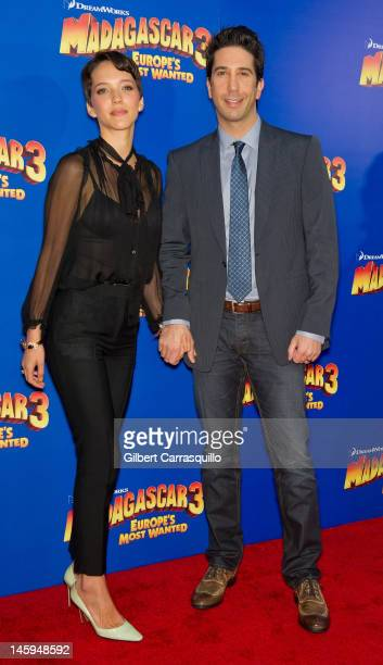 Actor David Schwimmer and Zoe Buckman attend the 'Madagascar 3 Europe's Most Wanted' premiere at the Ziegfeld Theatre on June 7 2012 in New York City